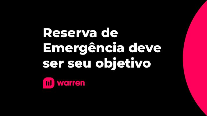 Reserva de emergência deve ser seu objetivo, ilustração.
