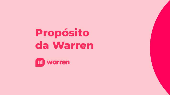 Propósito da Warren com alinhamento com o cliente, ilustração